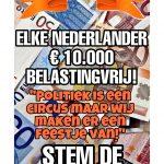 € 10.000 voor iedere Nederlander.